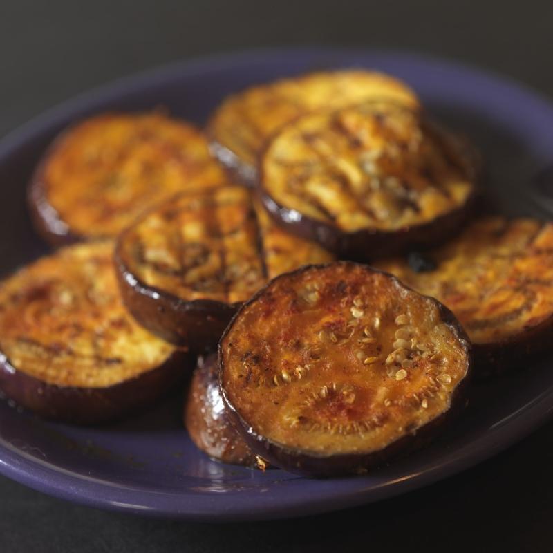 grilled masala eggplant