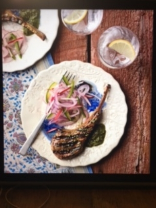 Grilled Masala Lamb Chops with Pickled Salad