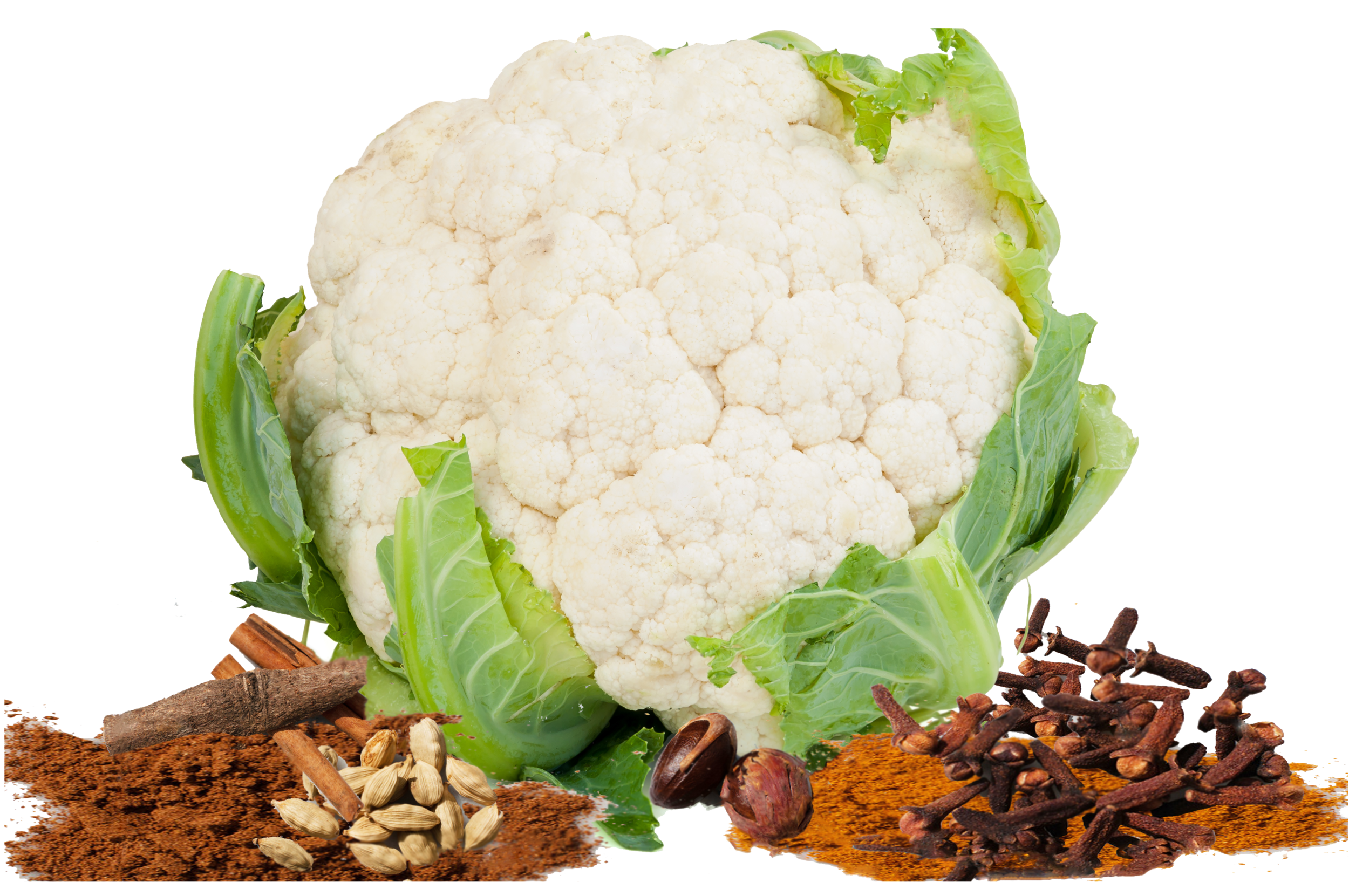 cauliflower-with-leaves-on-white-background-PRDHZJ6.png