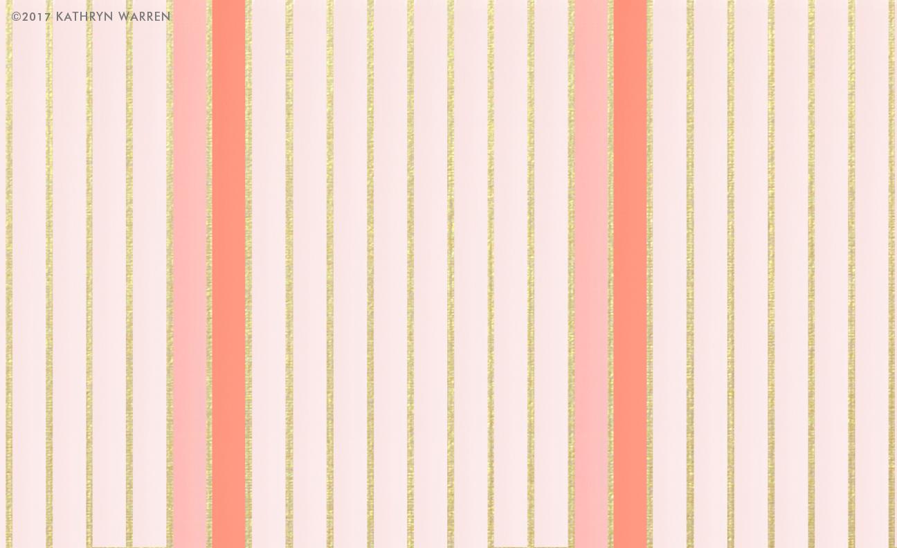 Coco Metallic Stripe (coral)