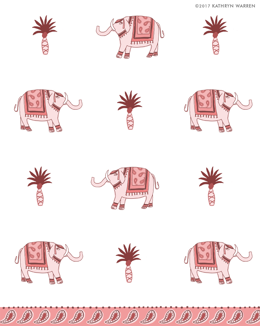 Elephants (pink)