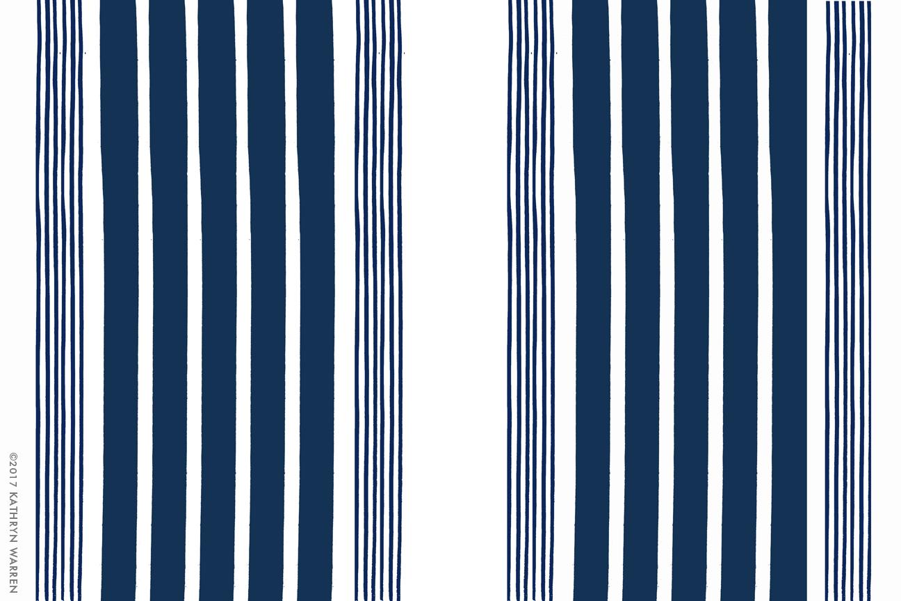 Beach Stripe (navy)