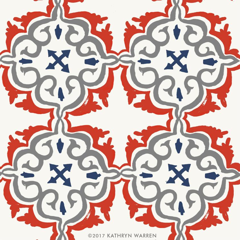 Cote d'Azur Tile (red)