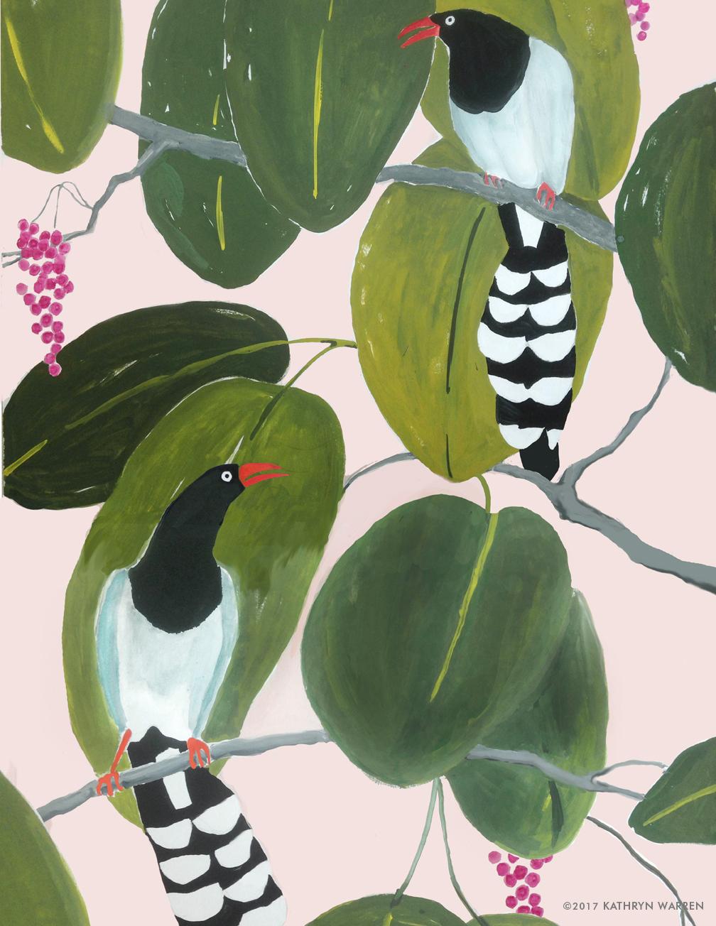 Birds & Fronds