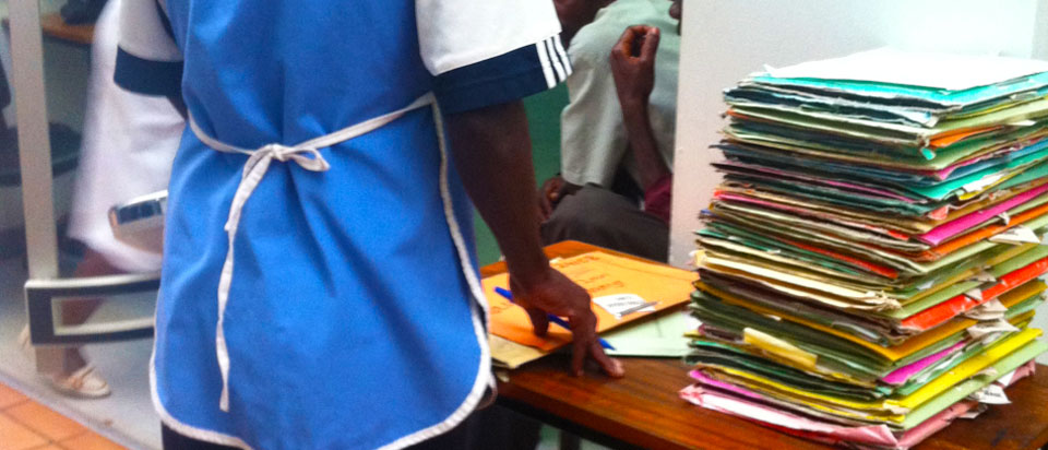 Following the data: observing how patient records move through the clinic and then to the archive room