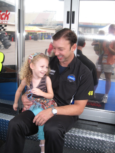 Brielle and Chad Knaus.