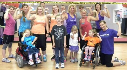 Having fun at Mattawan's FitZone WERQ class!  Picture taken by Paul Garrod - The Courier Leader
