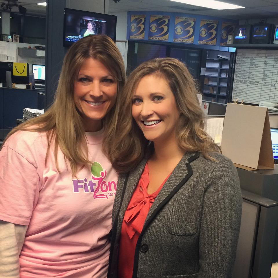 Denise and Sarah at Channel 3 News promoting the CharityWERQ event and raising SMA awareness!