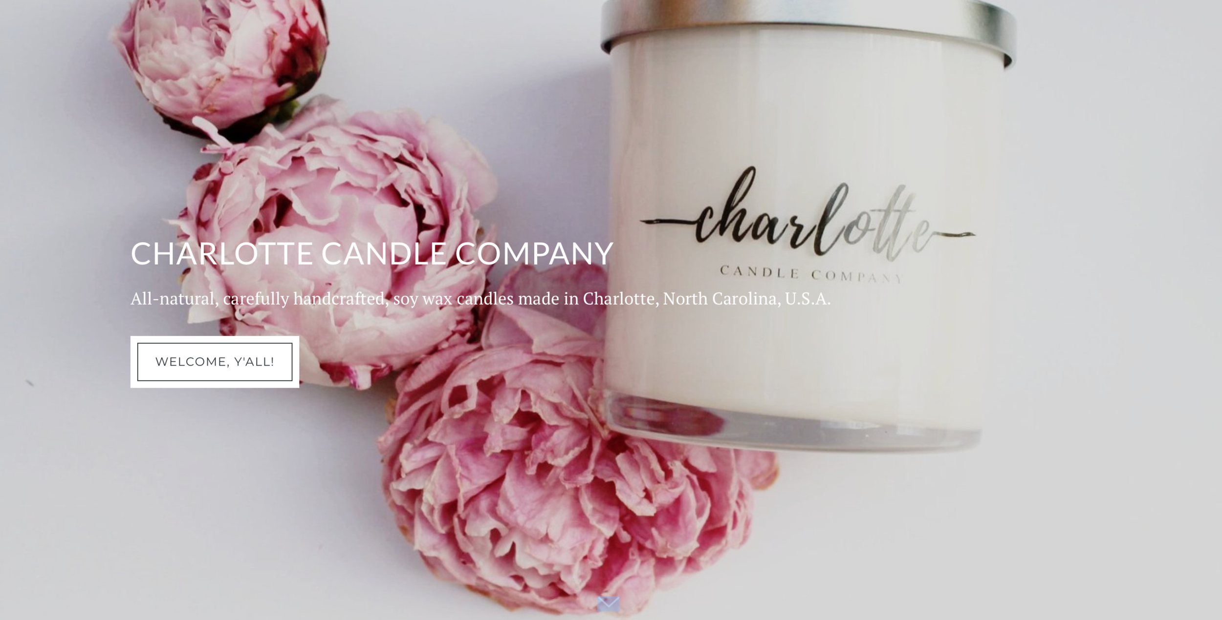 All-natural, carefully handcrafted, soy wax candles made in Charlotte, North Carolina, U.S.A.