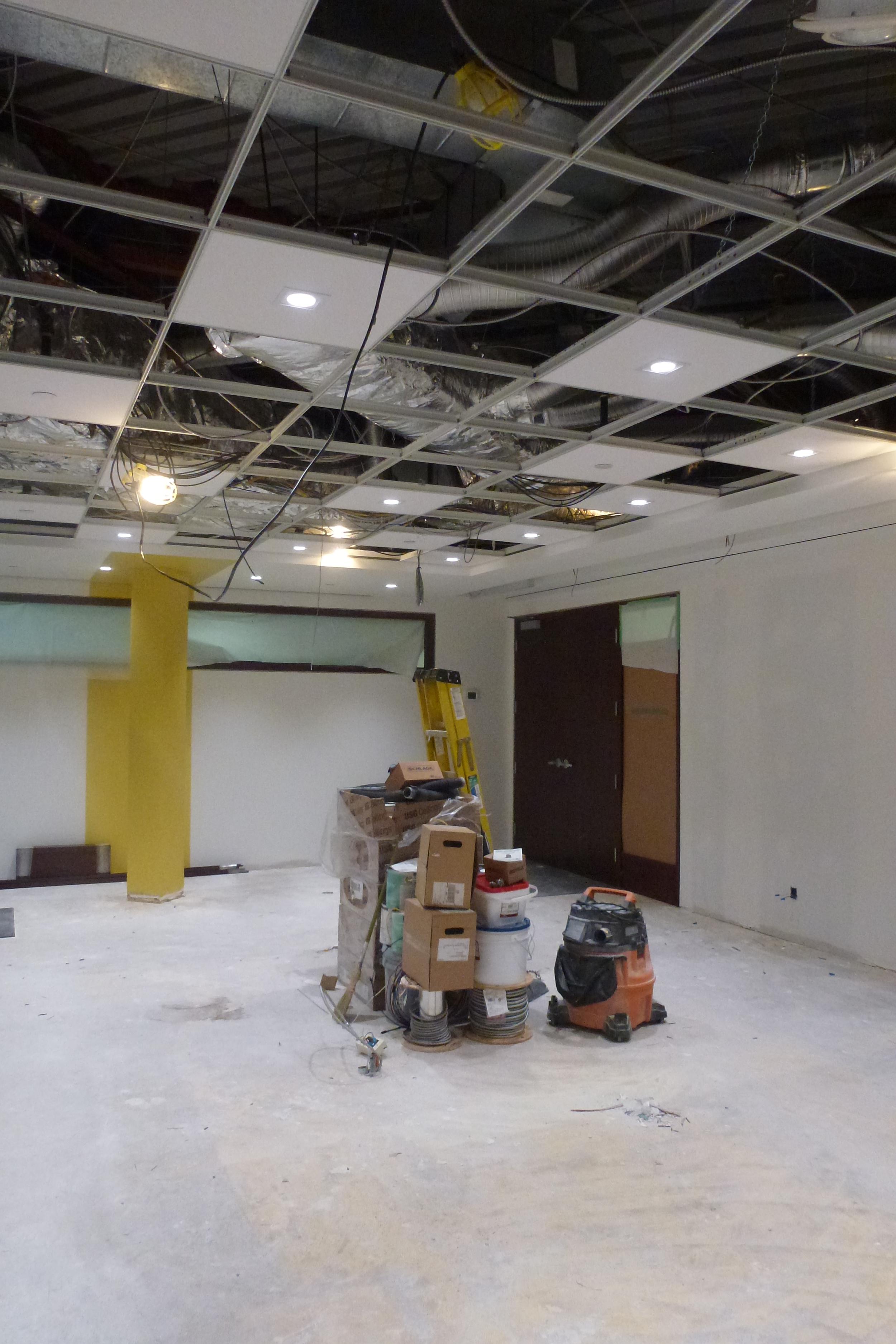 In Progress Lighting Installation