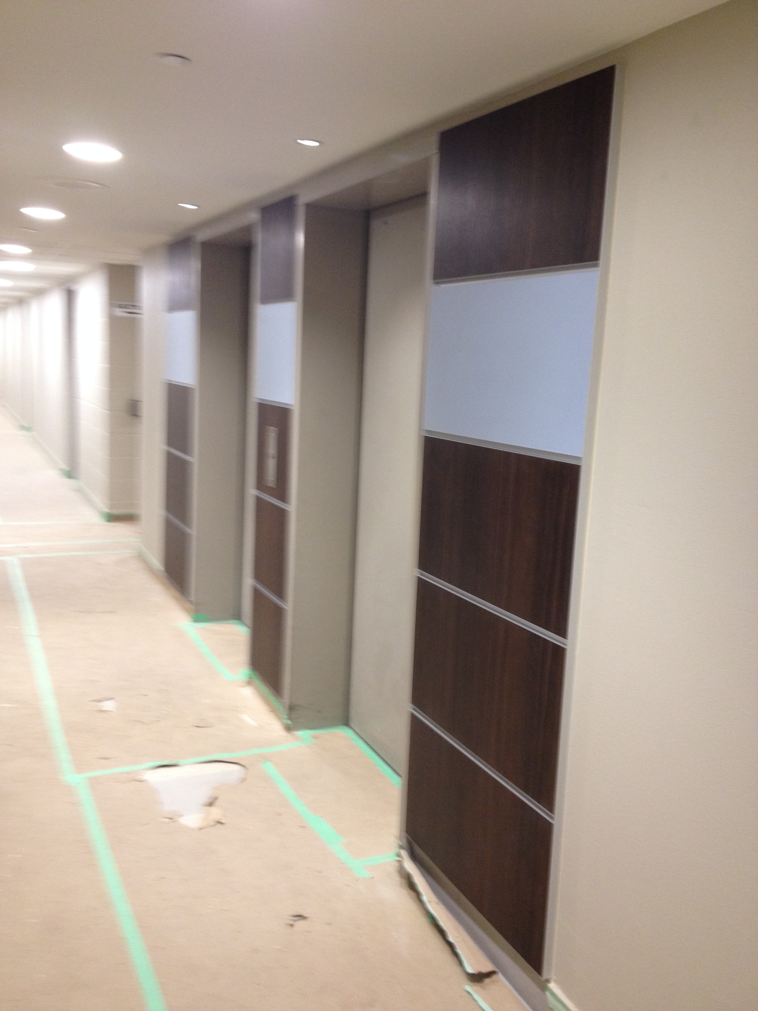 In Progress Elevator Lobby Panels