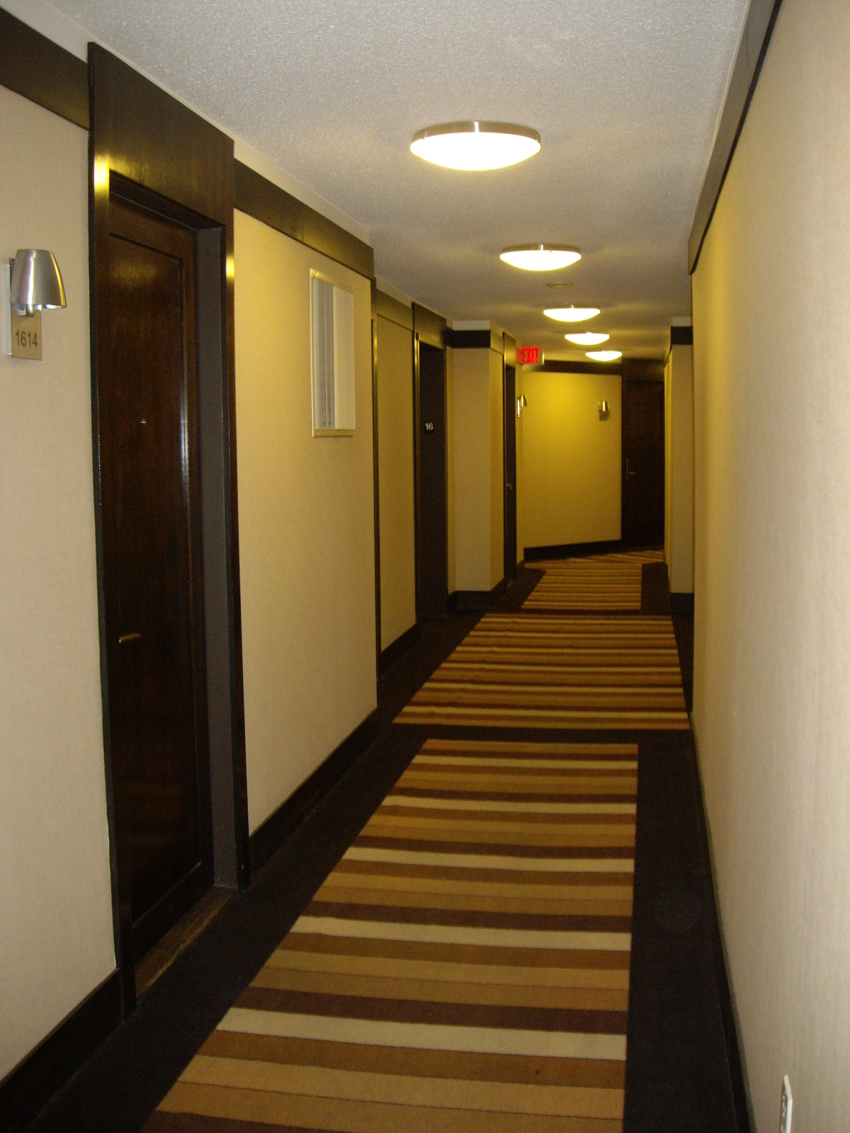 Existing Corridor Carpet and Elevator Lobby