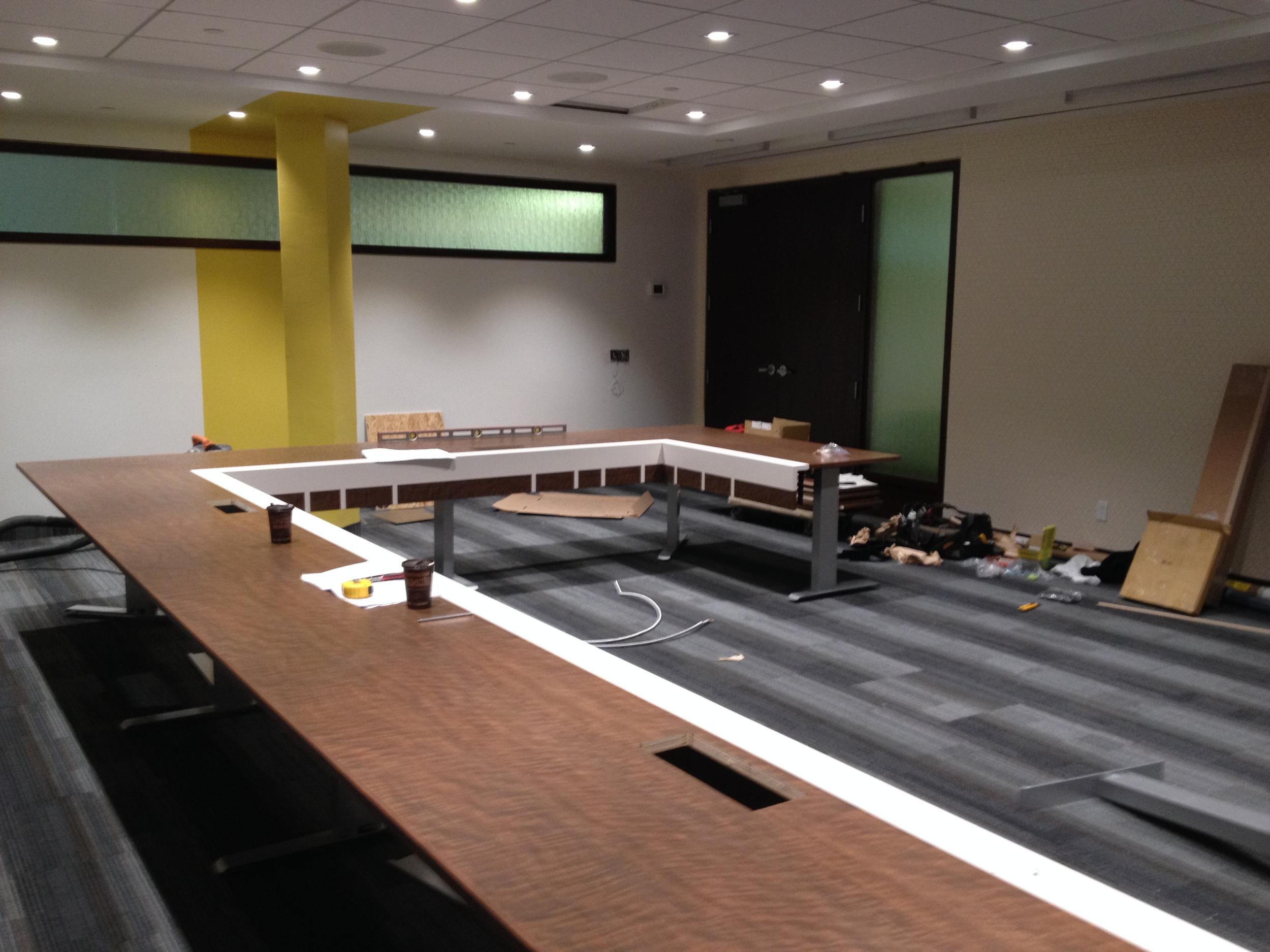 In Progress - Boardroom Table