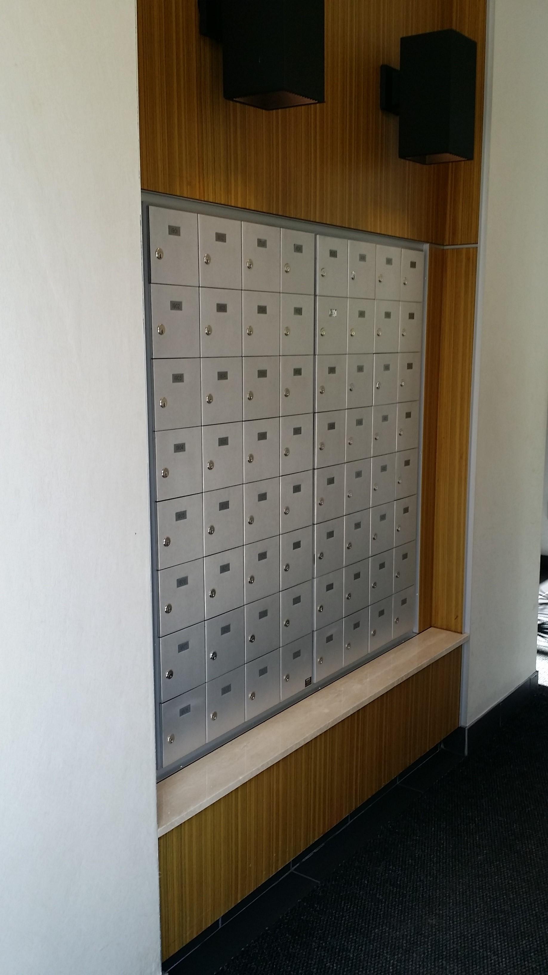 Existing Mailbox Area