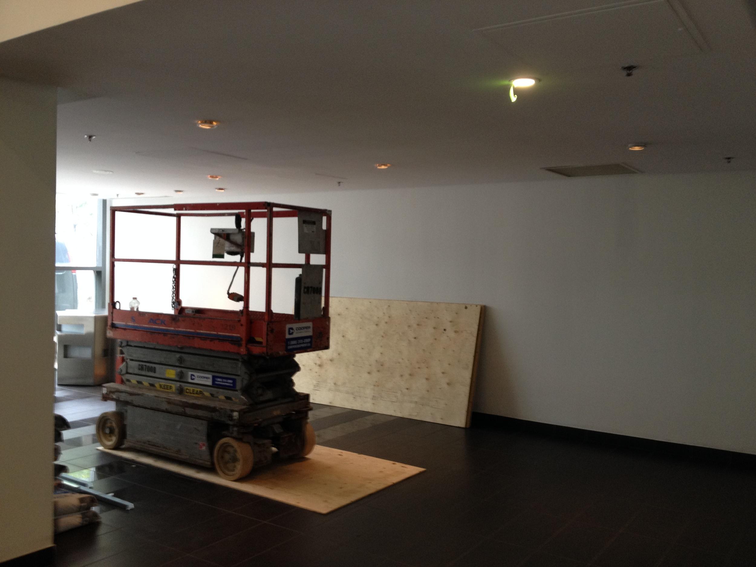 In Progress - South Lobby Sofa Wall