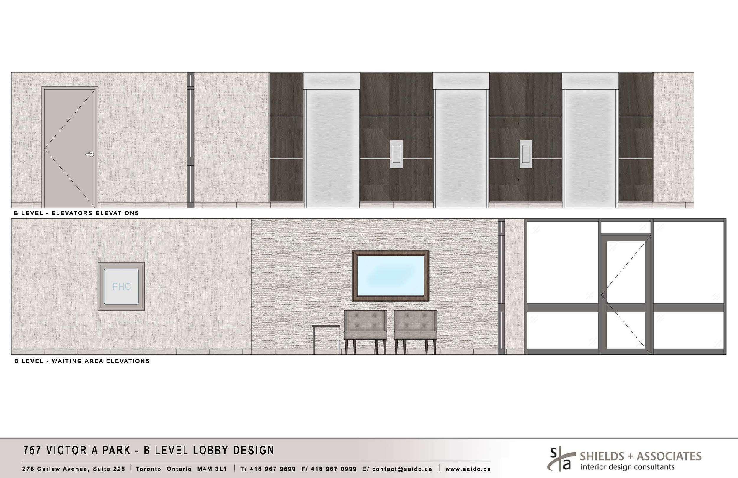 Approved Design Board - Level B Lobby