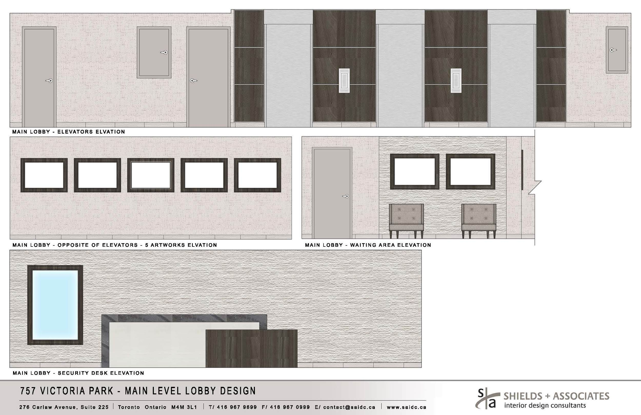 Approved Design Board - Main Level Lobby