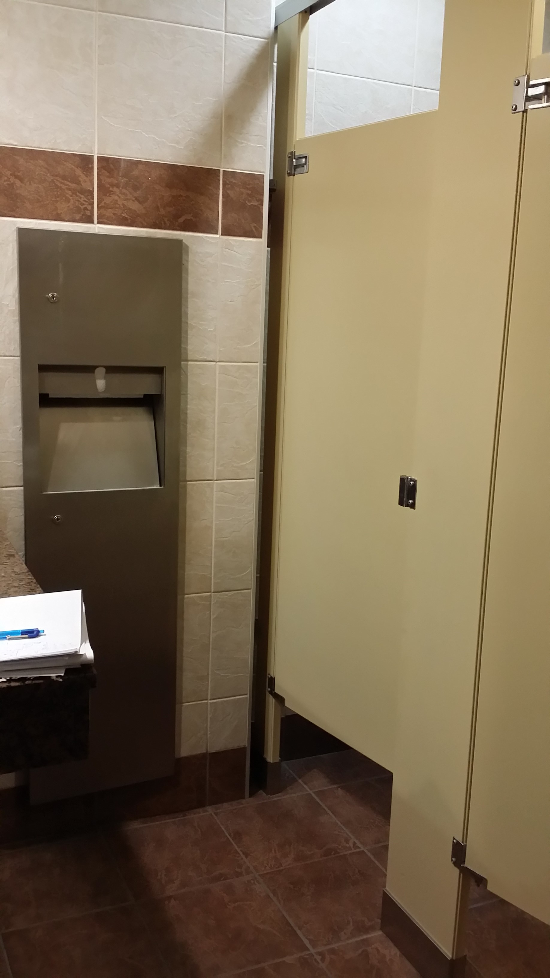 Before - Washroom Stall Partitions