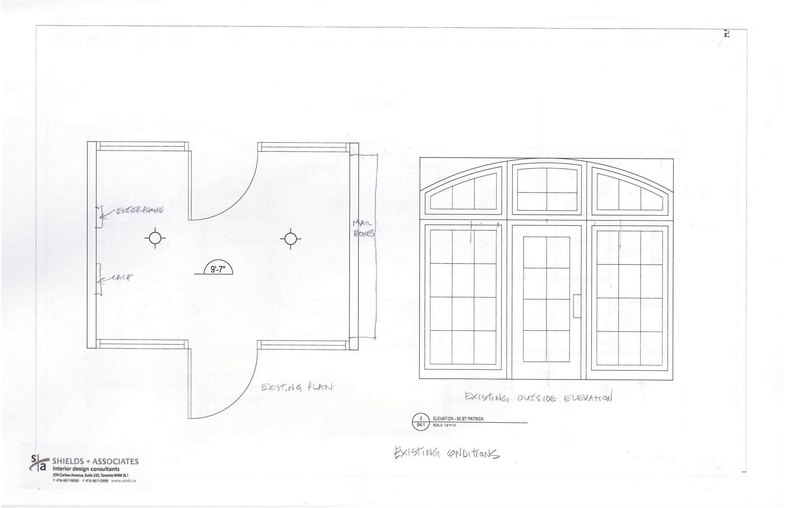 Proposed Sliding Door Entranceway