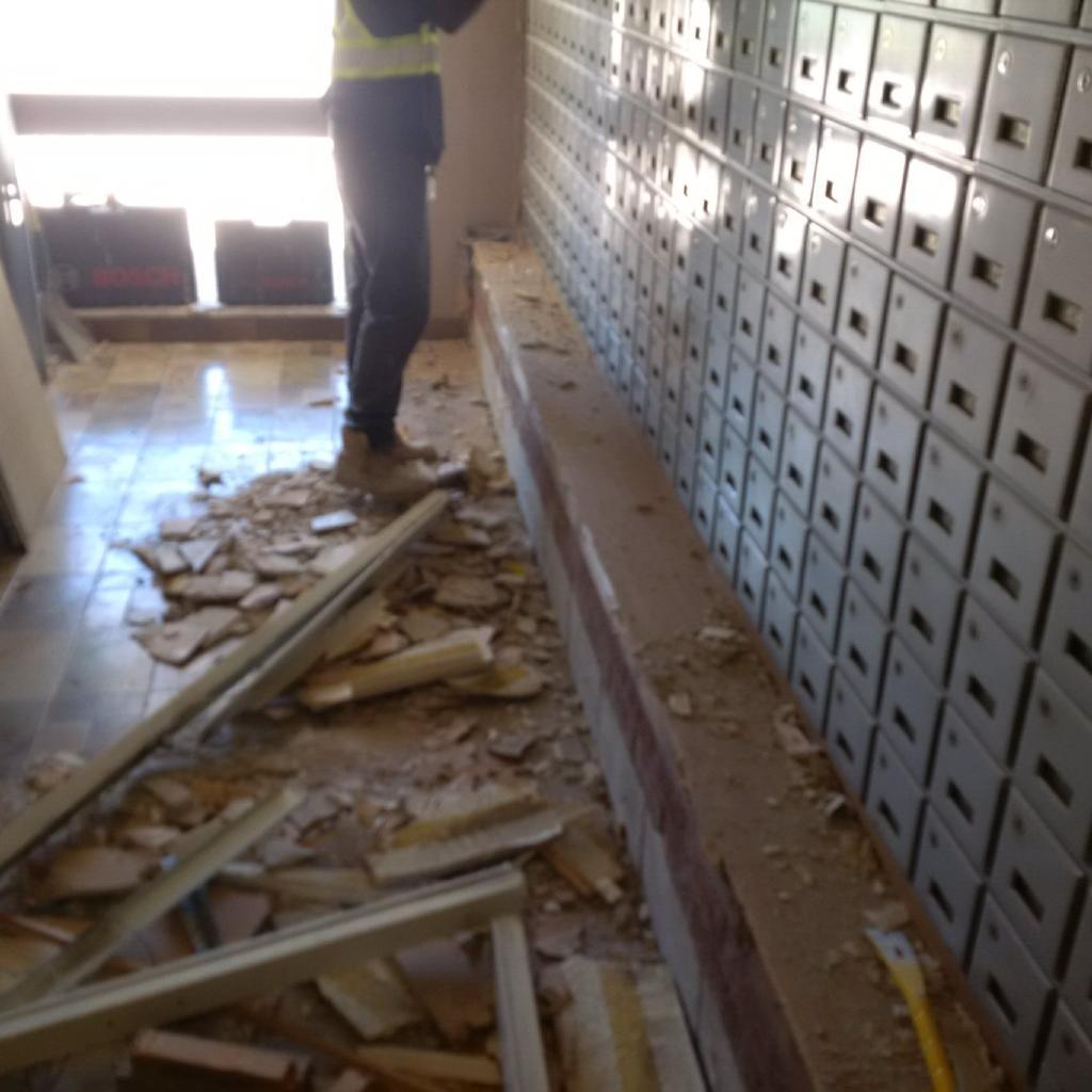 Mailbox Area Demolition