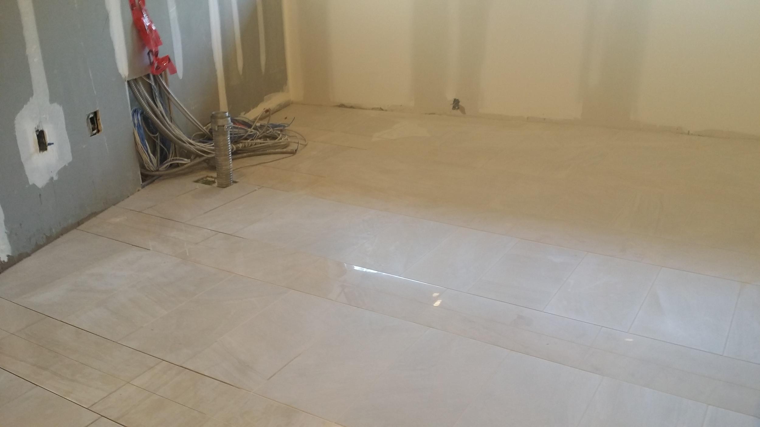 In Progress - Floor tiles