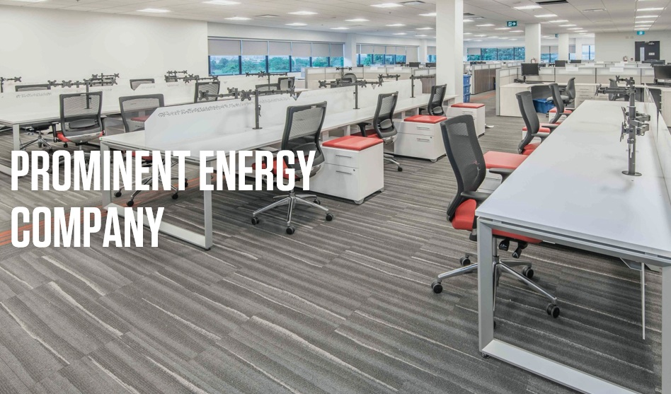 CASE STUDY  SHIELDS AND ASSOCIATES COLLABORATED WITH TAYCO, A MODERN OFFICE FURNITURE MANUFACTURER ON A LARGE PROJECT FOR A PROMINENT ENERGY COMPANY