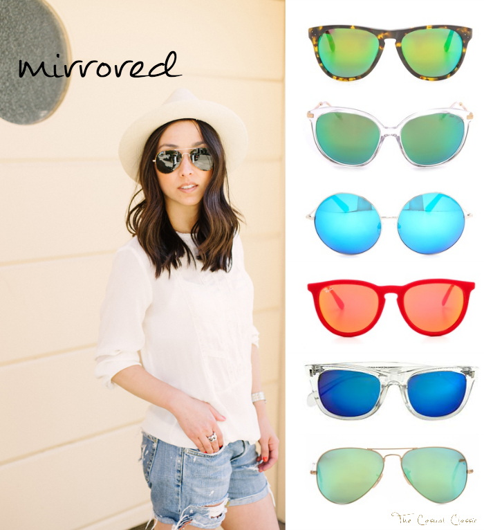 the casual classic blog - mirrored sunglasses