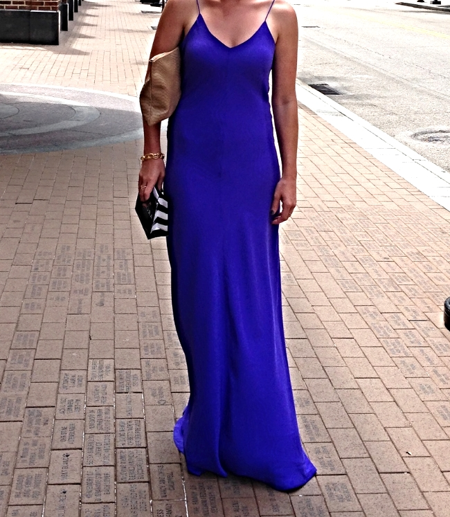 the casual classic blog - amanda uprichard maxi dress