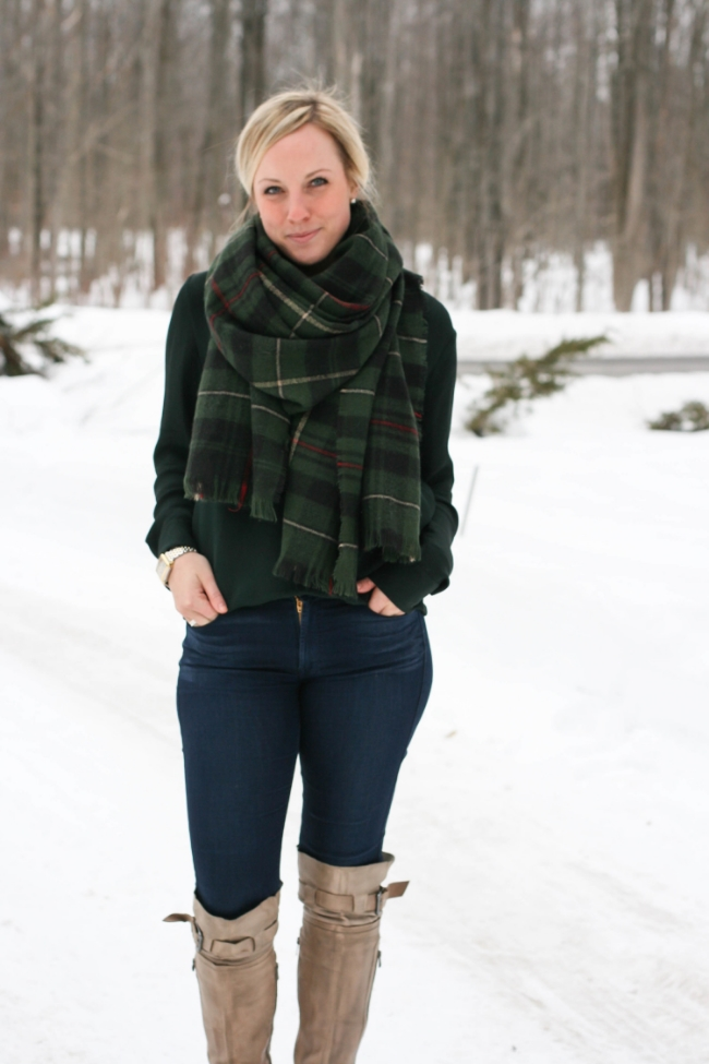 The Casual Classic | Plaid Blanket Scarf
