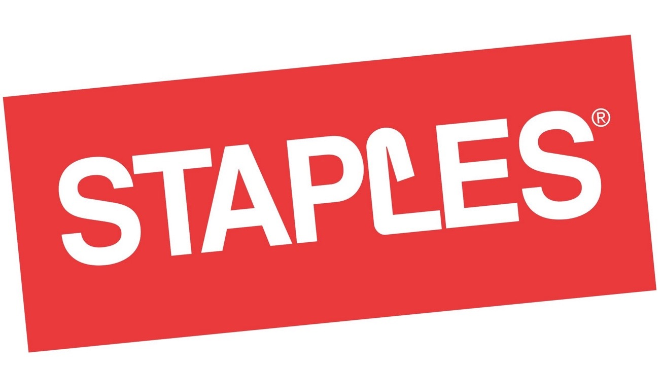 Available at all nation wide locations and www.staples.com