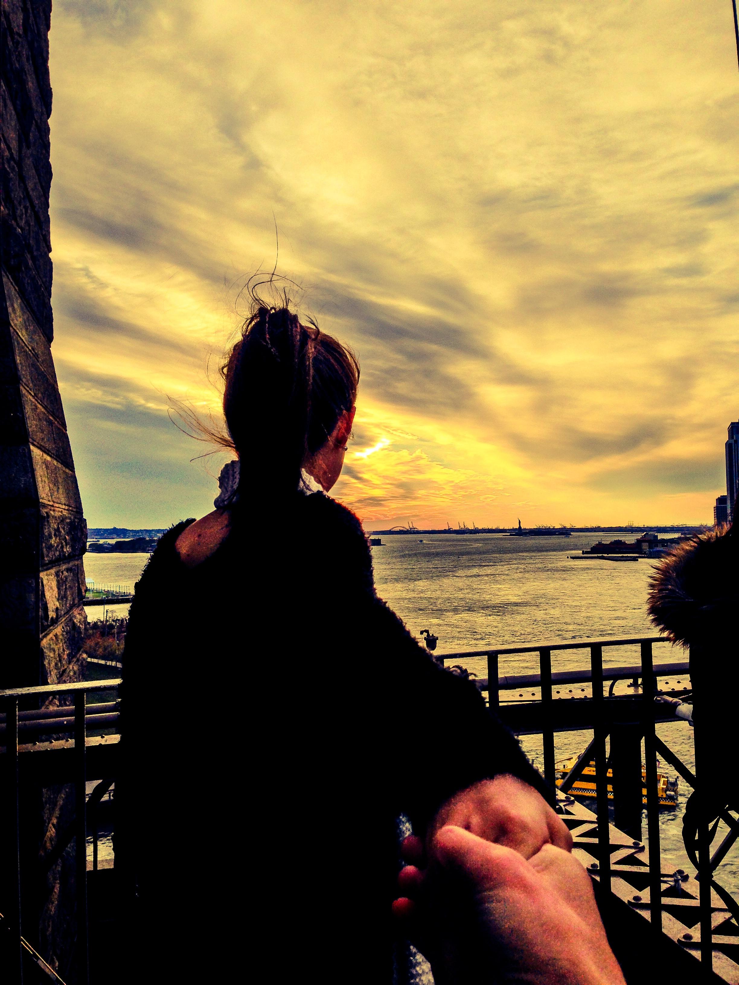 Brooklyn Bridge | Statue of Liberty at Far