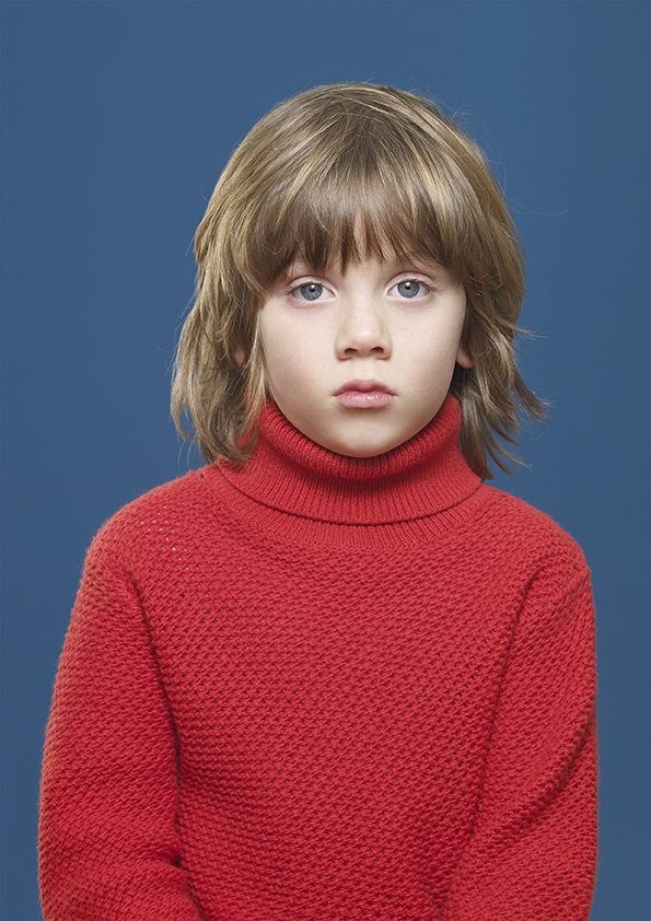 Kidscase red roll neck jumper. Cool clothing for girls and boys.  Photography by Blommers and Schumm