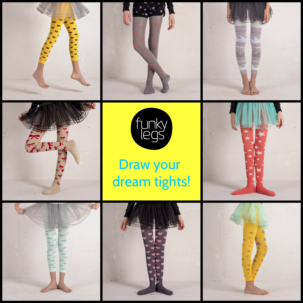 Funky legs draw your dream tights