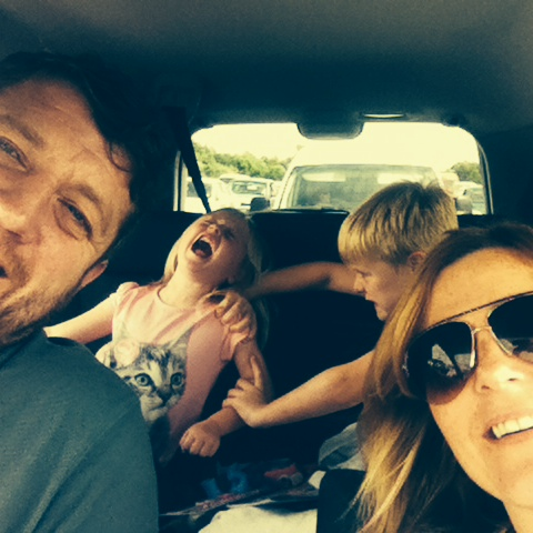 My amazing friends The Wilsons and this fantastic picture of a recent long car journey. It says it all!