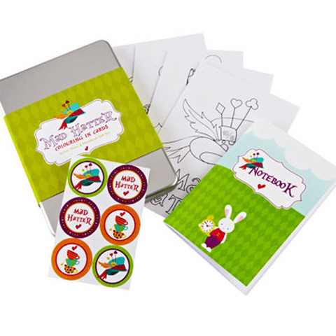 Colouring in set £9.95 Feather grey Parties