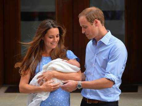 Kate and William and baby George