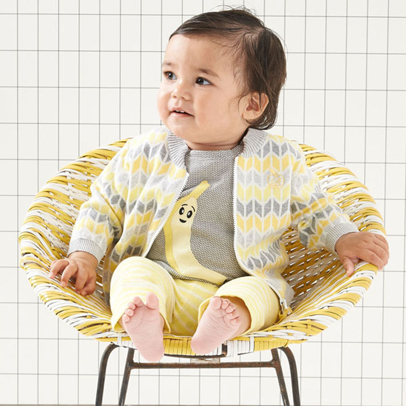 Bonnie Baby banana t-shirt £20 and zip cardi £38.90