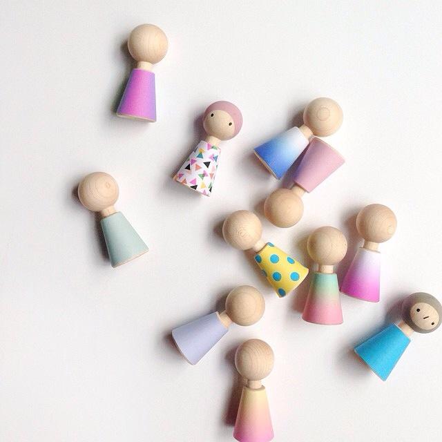Rock & pebble wooden doll set £16  Little Lulubel