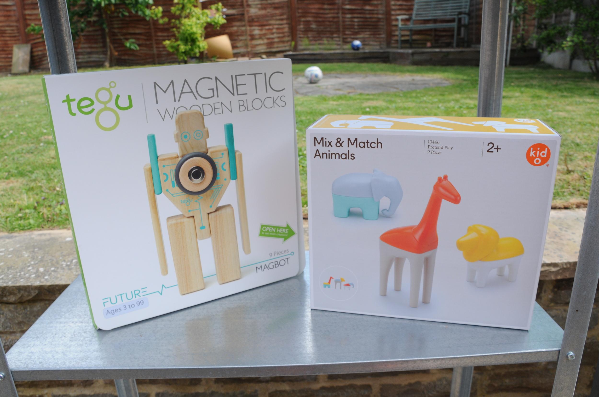 Tegu magnetic wooden blocks £23.99  Toyella . Kid O Mix and Match Animals £23.99  Toyella