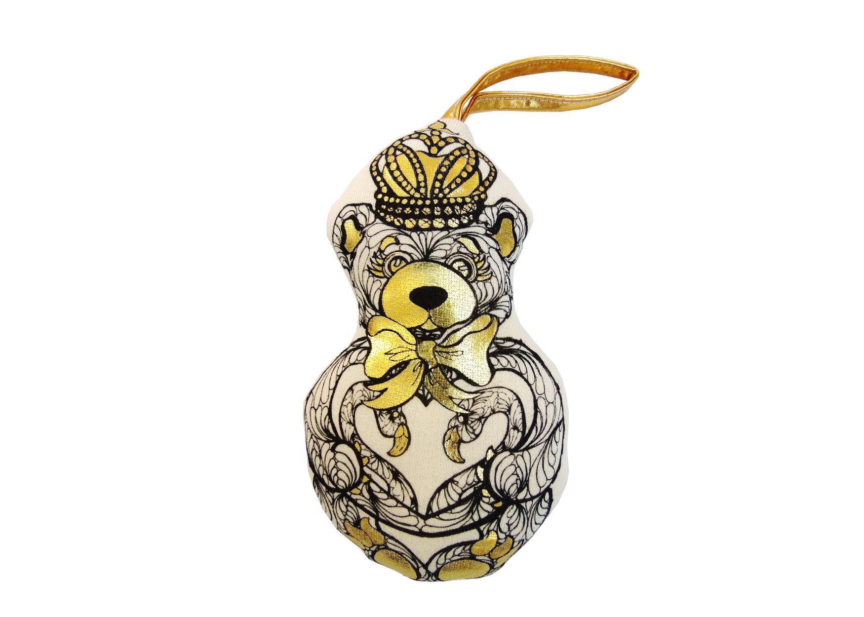 Karen Brost golden gift bear