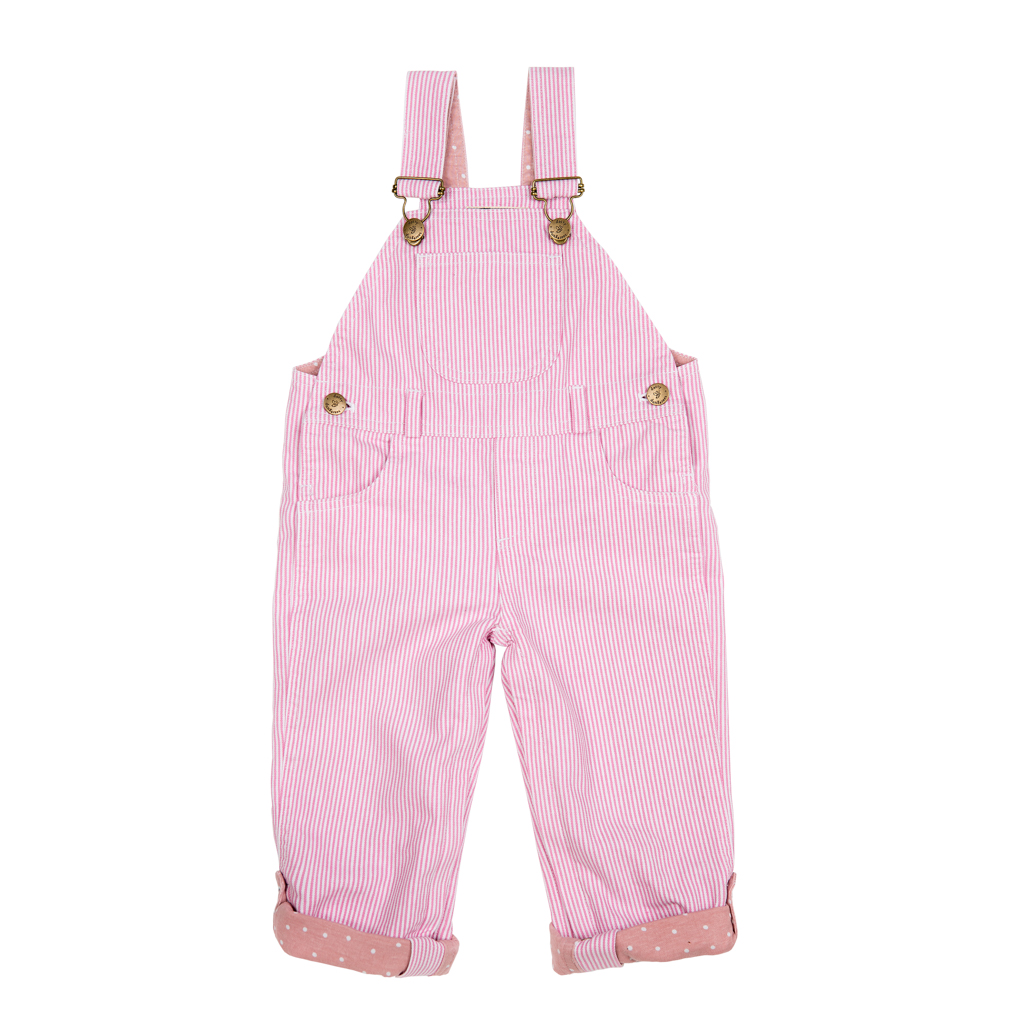 Dotty Dungarees pink dungarees for children and babies