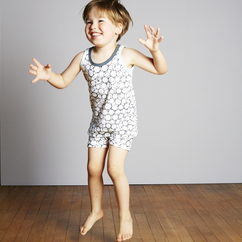 The Bright Company Little jeans bee print underwear, nightwear vest and shorts
