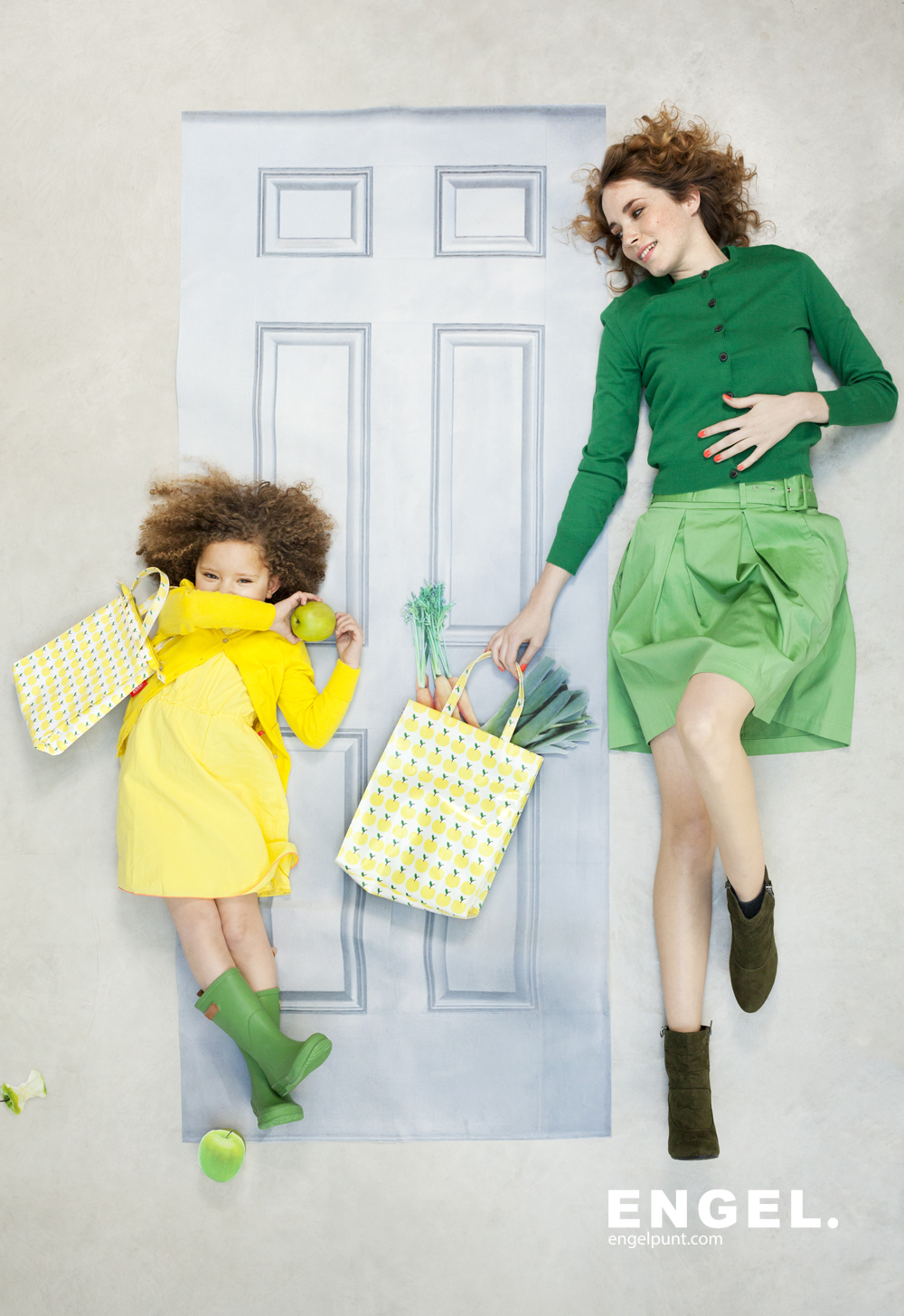 Engel. matching adult and kids bags