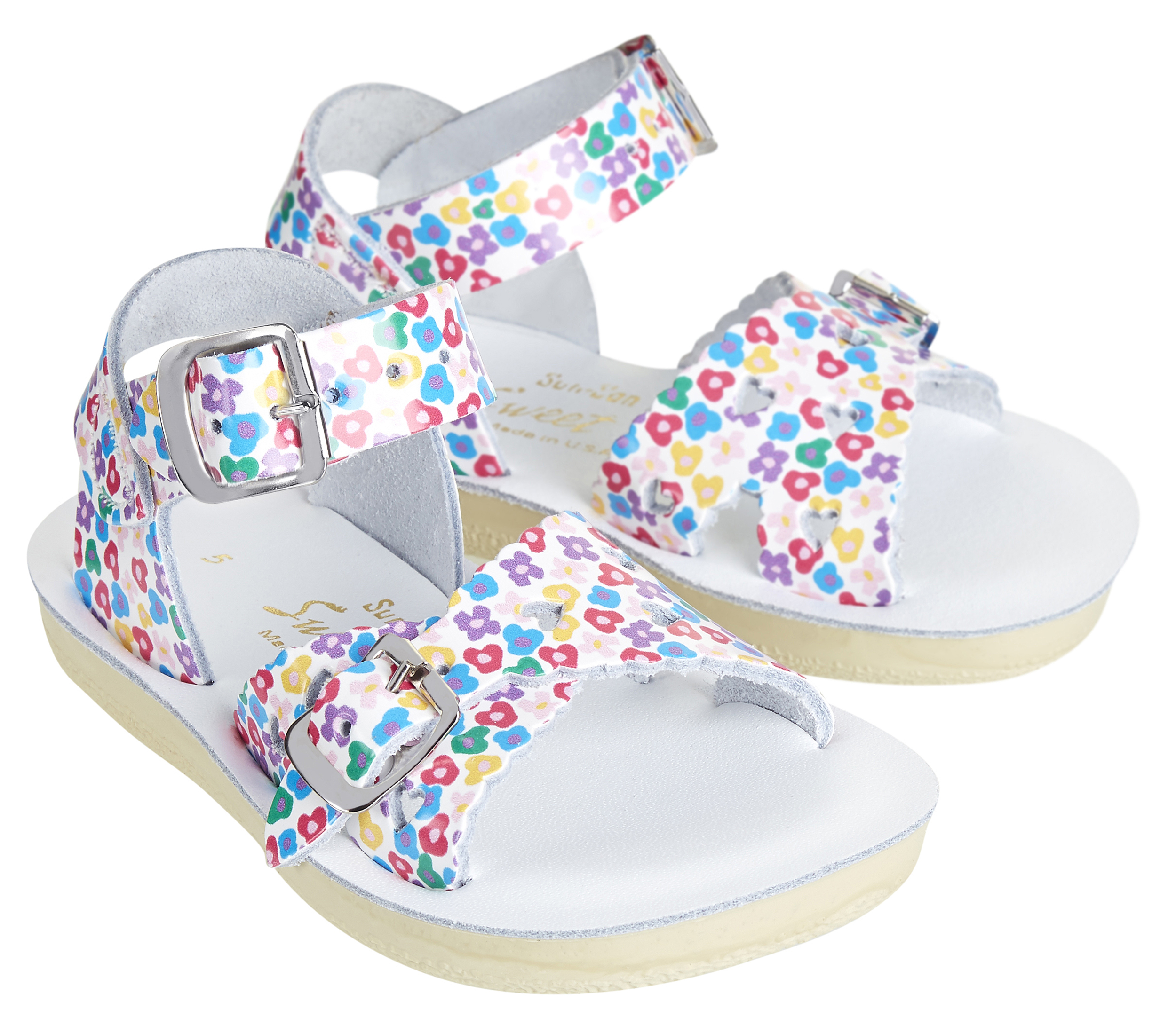 Saltwater floral kids sandals