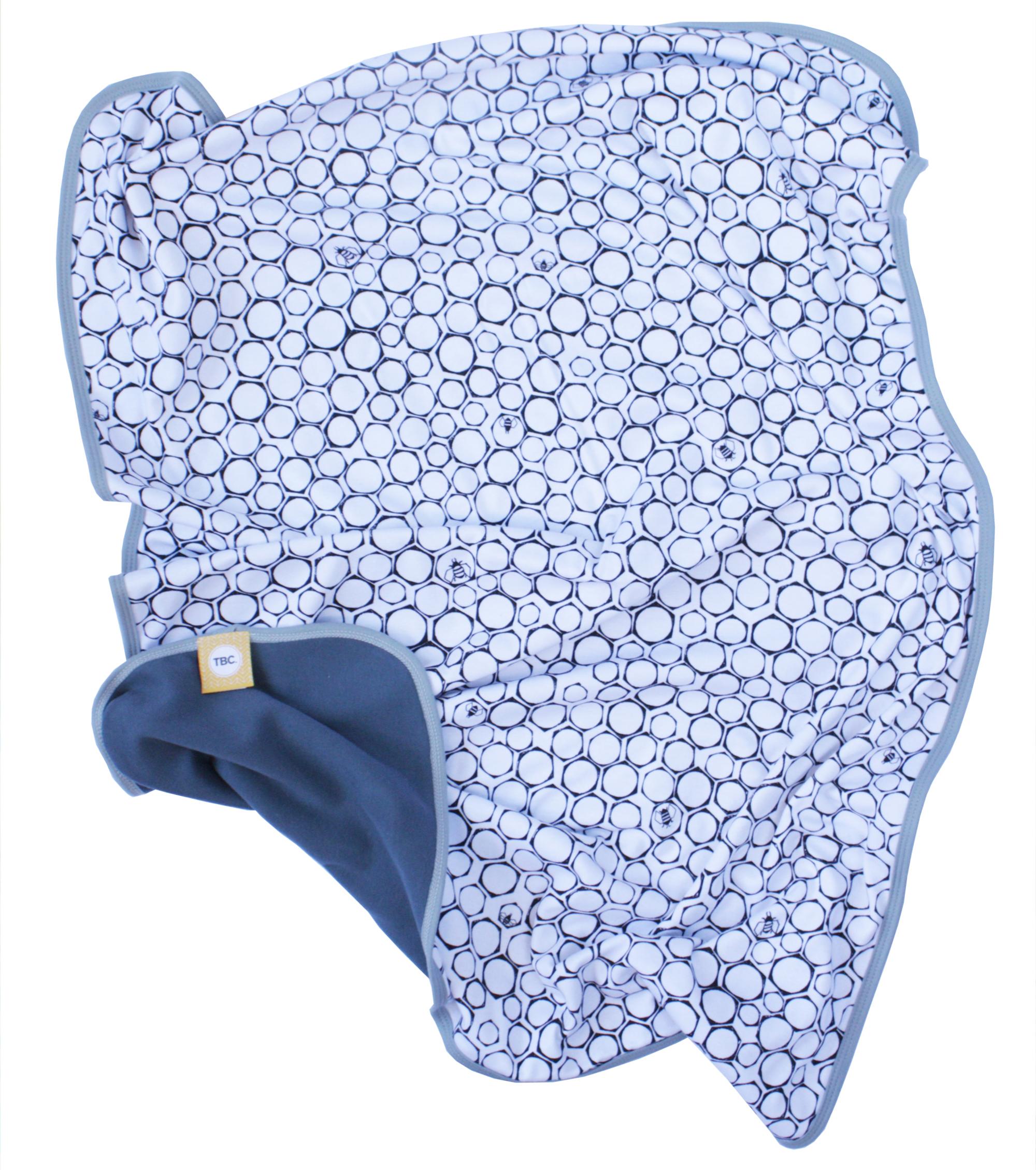 The Bright Company bee print blanket