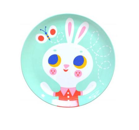 The Wee department Store Psikhouvanjou melamine plate – Rabbit