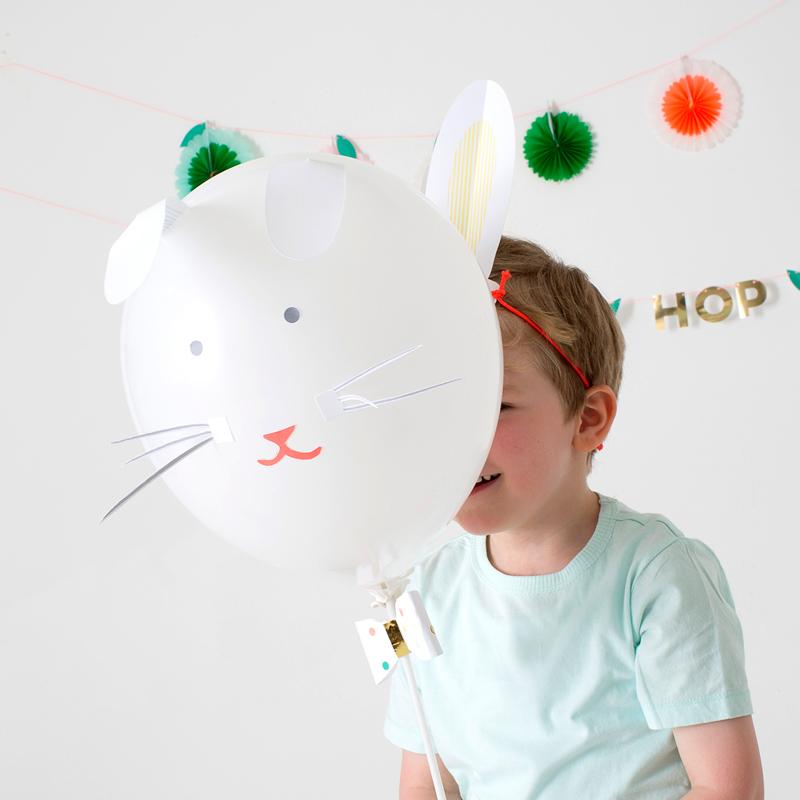 Little Lulubel easter rabbit balloons