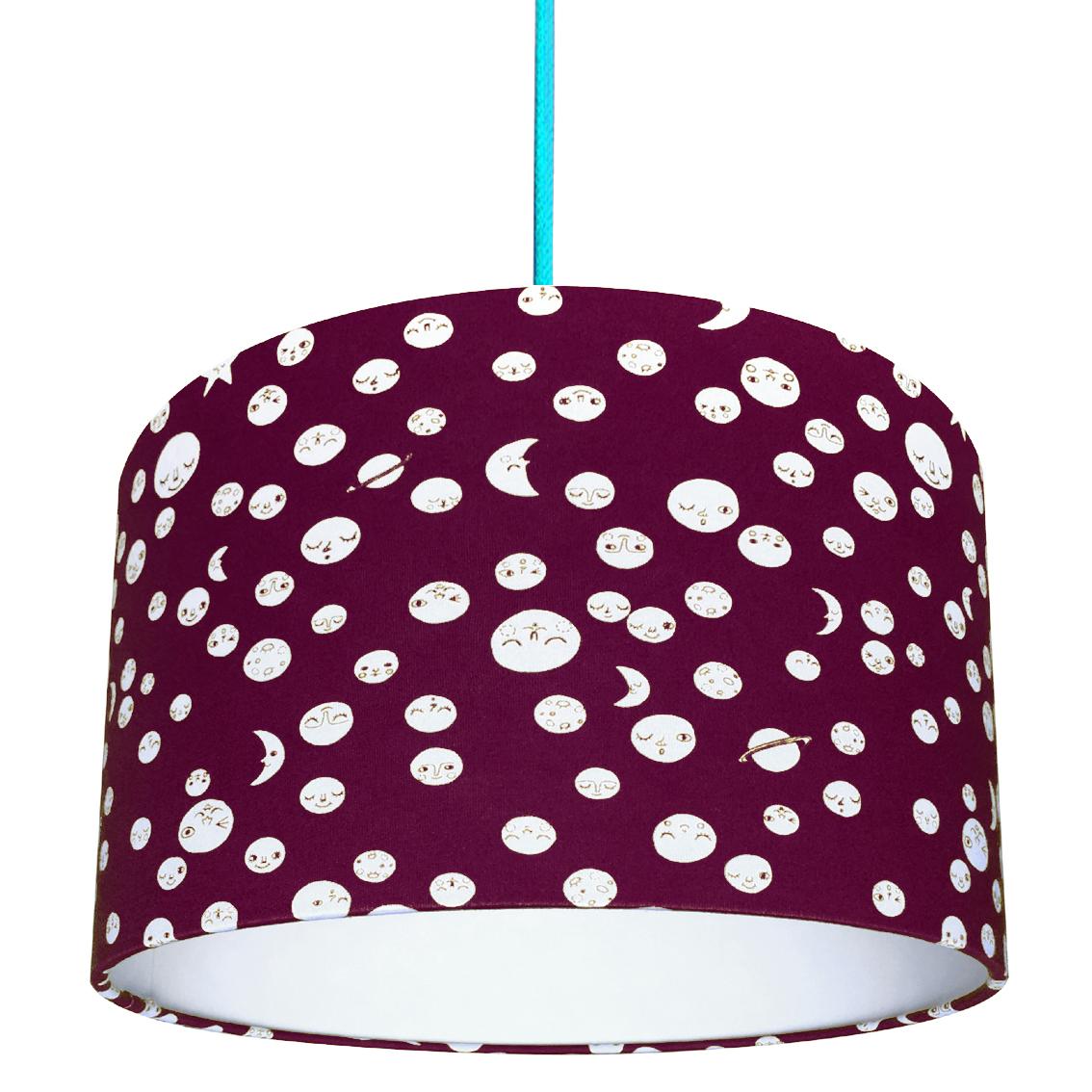 Love Frankie / TBC Polka Moons lampshade in Aubergine £35