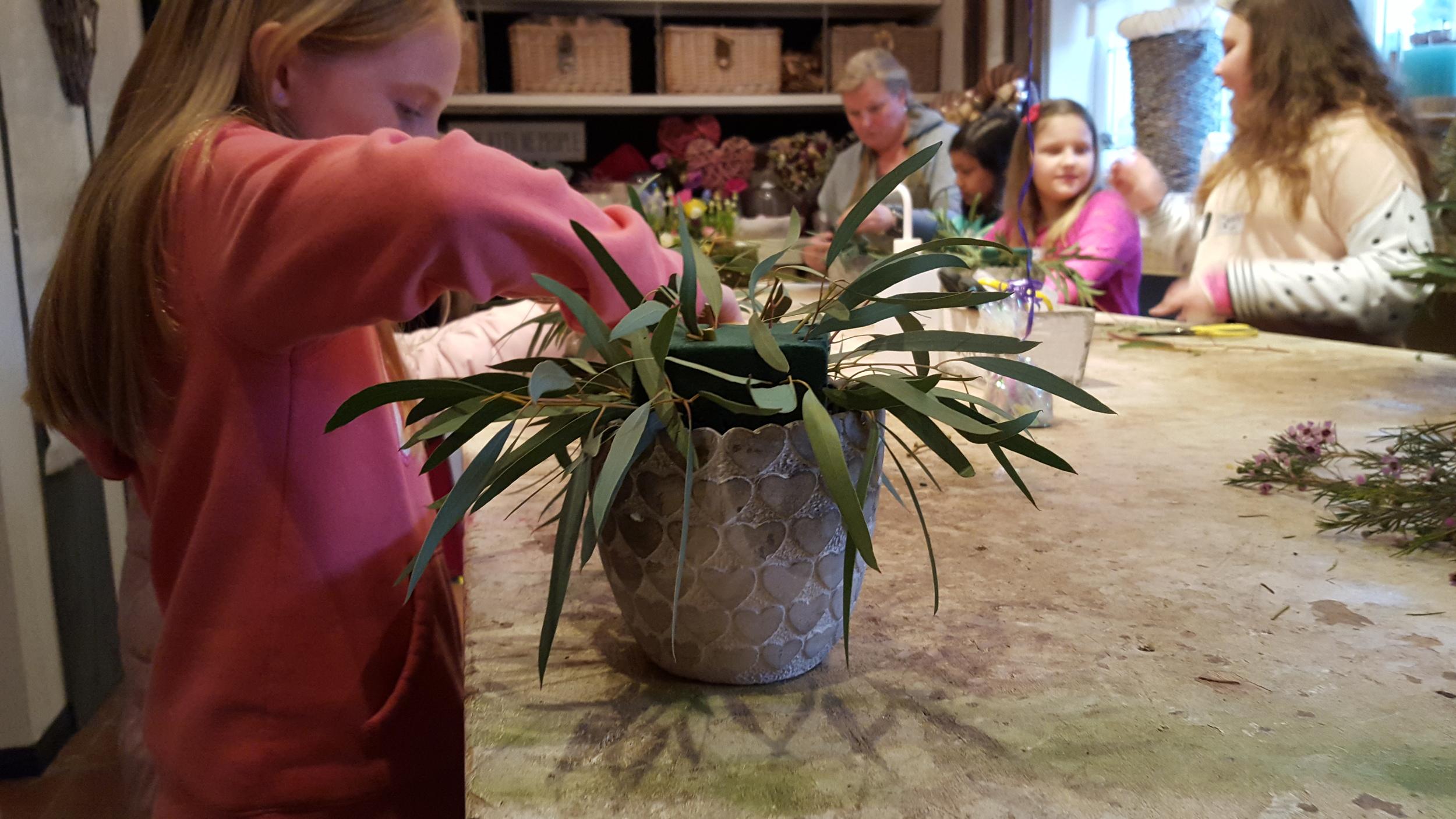 All in One Season Dutch Floral party. Adding foliage