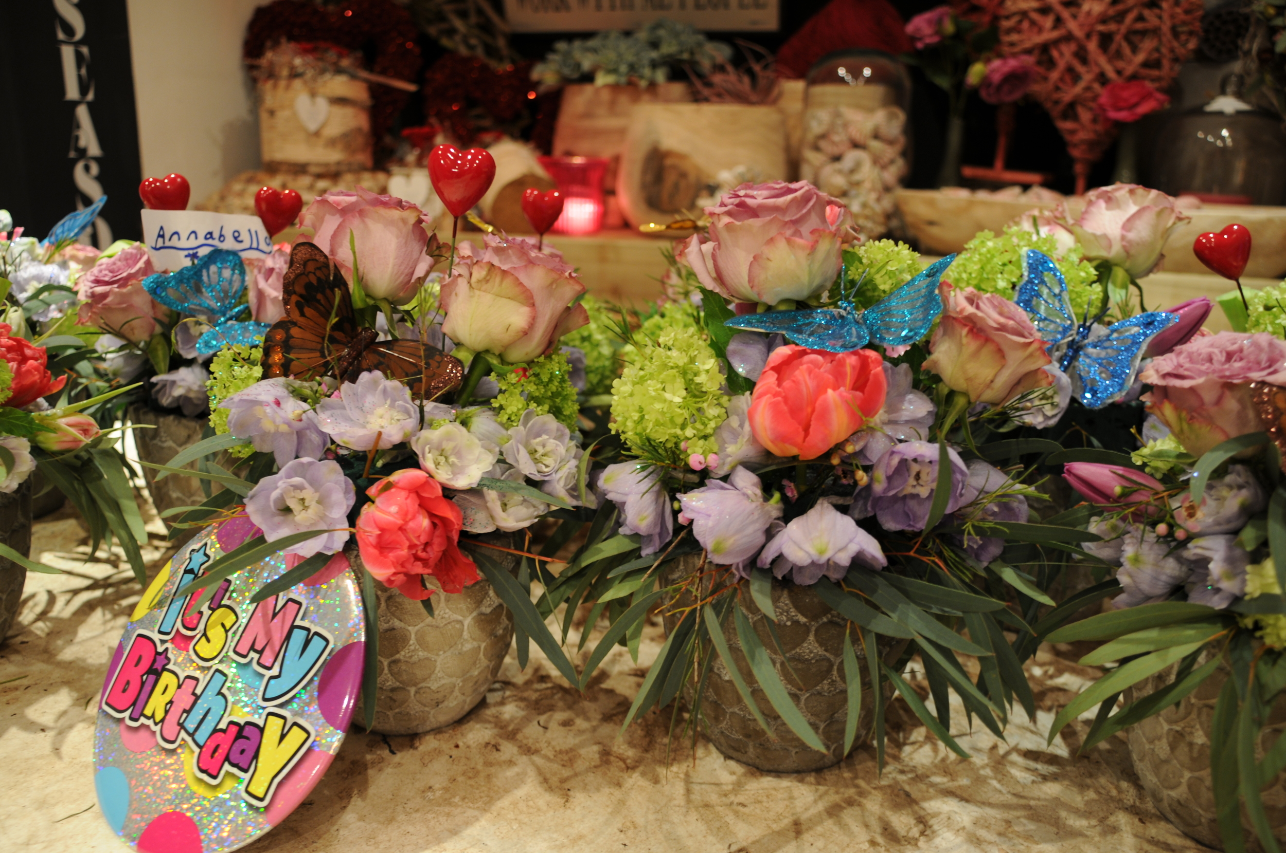 Dutch Floral Design childrens party workshop.